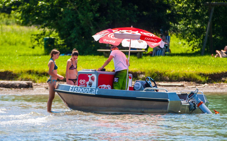 eisboot at das original aus strobl am wolfgangsee